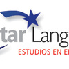 Logo star language blanco